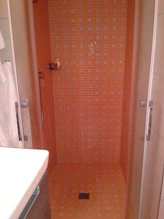 Hotel du Parc : doccia ampia e comoda,bagno pulito.