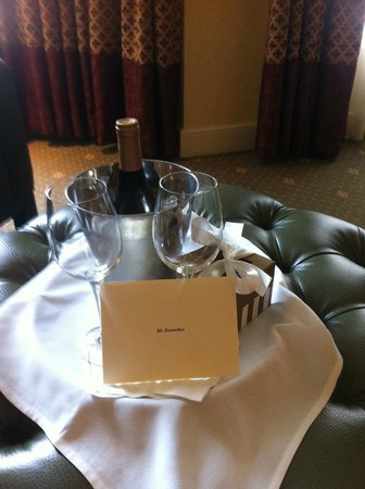 Hotel Commonwealth: Complimentary Wine and Truffles form Management