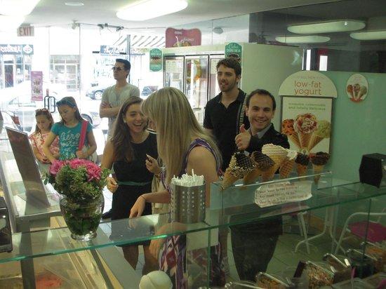 Marble Slab Creamery: Happy customers