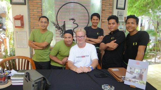 Rambutan Resort - Siem Reap: cheerful staff & day I'm leaving