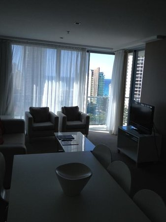Artique Surfers Paradise: The amazing view from the living area
