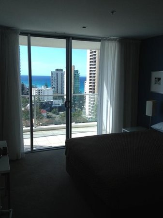 Artique Surfers Paradise: The amazing view from the main bedroom