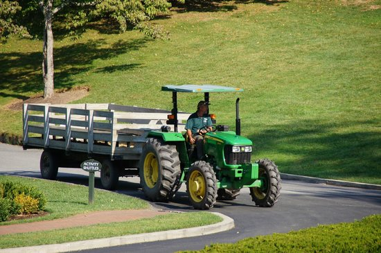 The Omni Homestead Resort: Tractor hay rides!