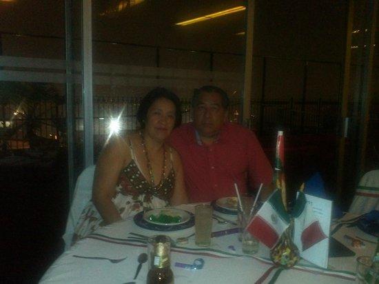 Hotel Fénix : terraza del hotel noche mexicana