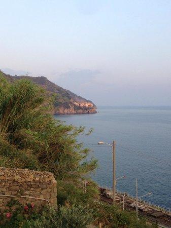 Corte del Gallo: Corniglia - view from breakfast table looking south, Cinque Terre, Italy