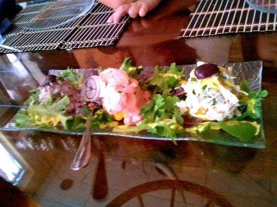 El Gaucho Inca: Octopus, shrimp and chicken causa