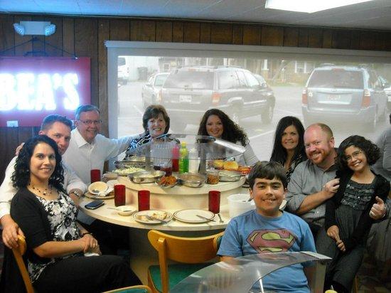 Bea S Restaurant Family Eating At
