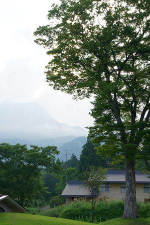 妙高市, 新潟県, ホテル内の庭園です。