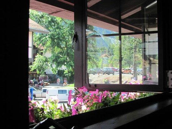 Cafe Christa: The view from the window at a table for two, in July