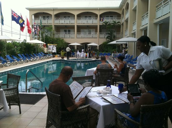 3b04b3d75e07 Sandals Inn  Fashion Show by Pool Bayside Resturant