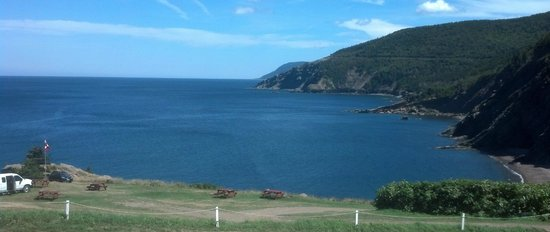 Meat Cove Campground & Oceanside Chowder Hut: View from the picnic table outside the Chowder Hut