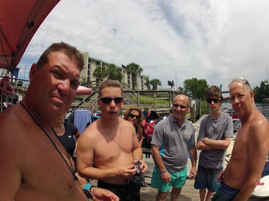 Myrtle Beach Watersports: Shawn showed my son how to take stills with his gopro :)
