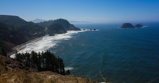 Cape Lookout Bed n Breakfast: View from Cape Meares, North of B&B