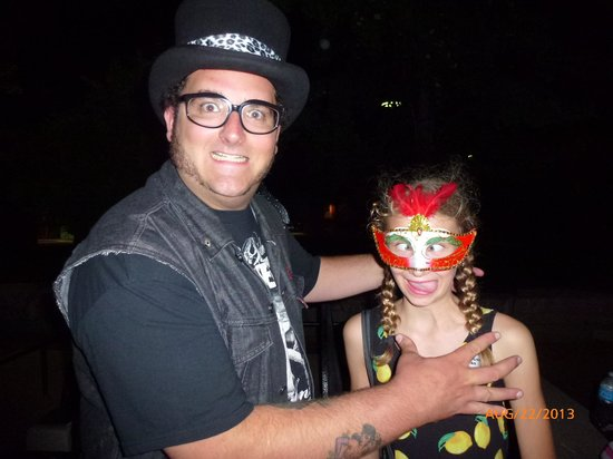 Spellbound Tours: Mike and a kid having fun!