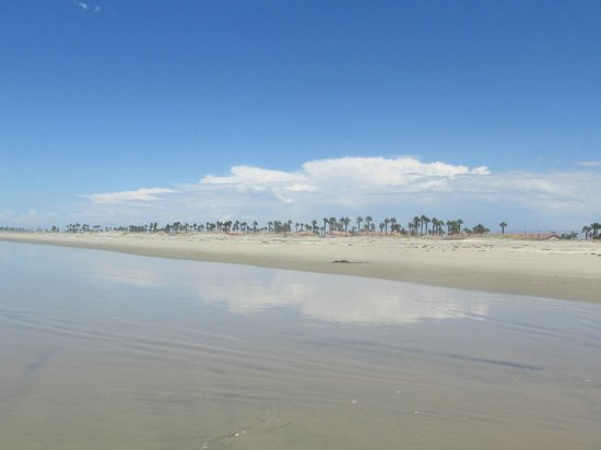 Silver Strand State Beach: Thunderhead reflected on wet sand