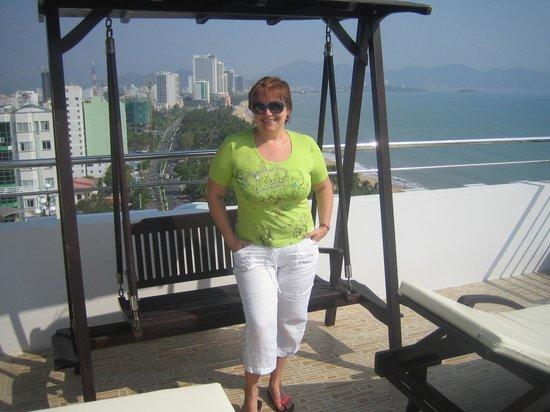 Majestic Nha Trang Hotel : на крыше отеля