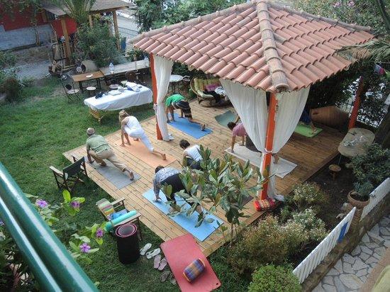 Antonio's Guest House: Yoga at the gazebo