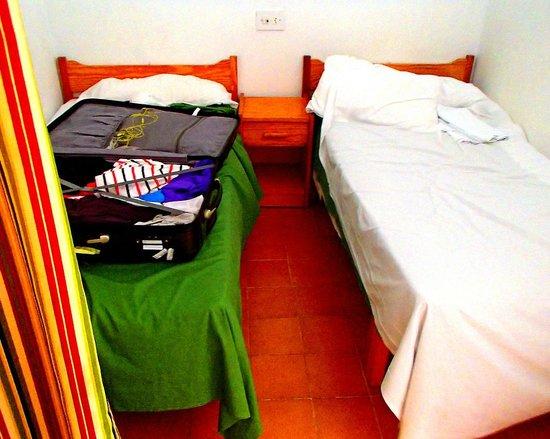 Ibiza Rocks Apartments : The bedroom wont inspire any romance