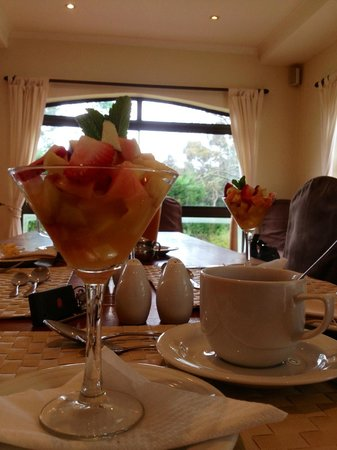 Silver Forest Boutique Lodge & Spa: Before breakfast we got a gorgeous little fruit salad!