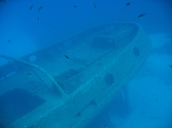 Corsair Diving Malta: One of the first sights of the wreck