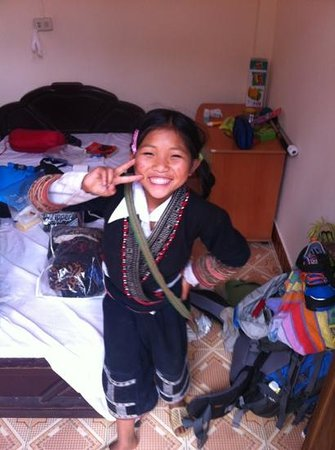 Sapa Backpackers: our good-morning fairy! so lovely!!!