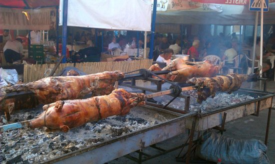 Leskovac, Serbia: The food is cooked hot