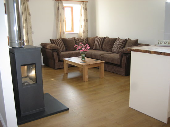 Hendre Barns: Delfryn - Lounge with Wood Burning Stove