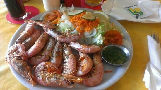 Restaurante Atlantic : lovely grill king prawns from the Atlantic Restaurant