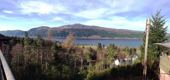 Foyers House: View from the balcony over Loch Ness
