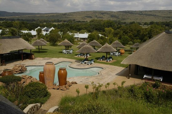 Magaliesburg, Sydafrika: Lapa & swimming pool area