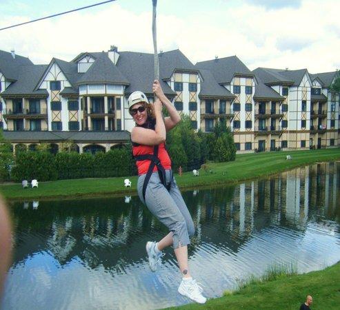 Zipline Adventure at Boyne Mountain: Fun adventure ziplinin'