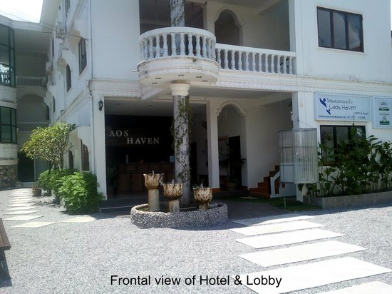 Laos Haven Hotel : Frontal View of Hotel