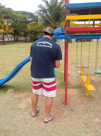 Centro de Turismo de Praia Formosa SESC: Treinando as crianças.