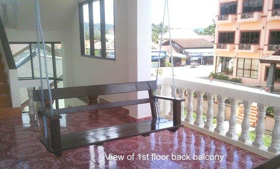 Laos Haven Hotel: 1st Floor Back Balcony