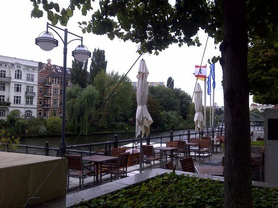 ABION Villa: Outside the hotel.  The riverside environment is just wonderful.