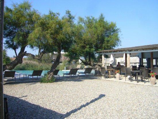 Hotel Les Arnelles: espace repas et repos bord de piscine