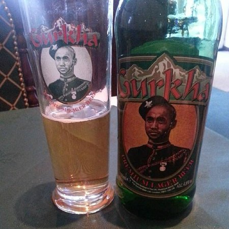 Yeti Nepalese Restaurant: A refreshing Gurkha beer whilst waiting for dinner!