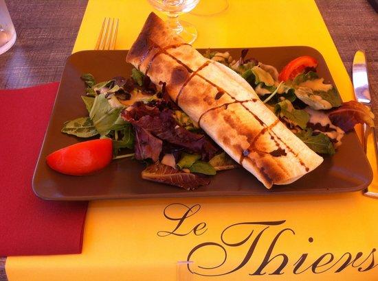 Le Thiers: Wrap au chèvre chaud et miel du menu a 18€