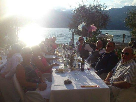 Ristorante La Pace: La Pace table and view as the sun sets