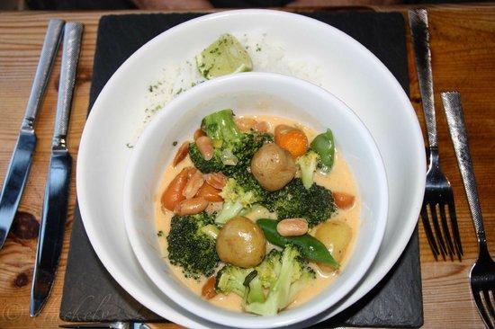 Beamers Restaurant: Gemüsecurry mit Reis