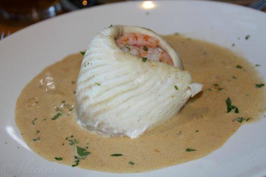 Beamers Restaurant: Fischroulade mit Brandysoße