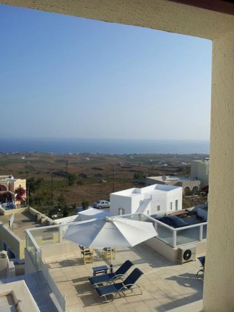 Nikos Villas: View From Bathroom Window