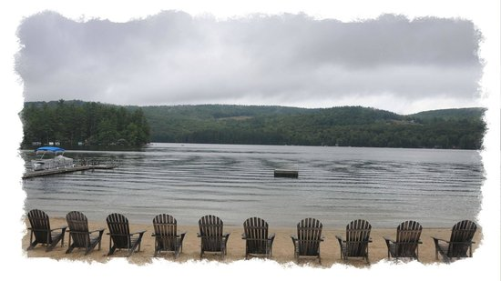 Cottage Place on Squam Lake: beach at cottage place
