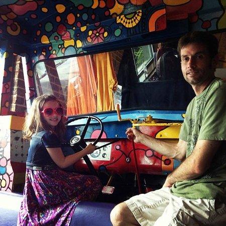 Mellow Mushroom: Kids love the bus!