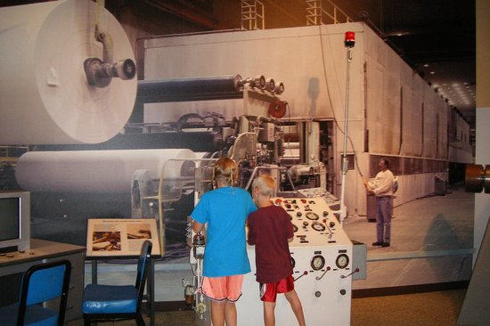 Forest History Center: Paper mill exhibit