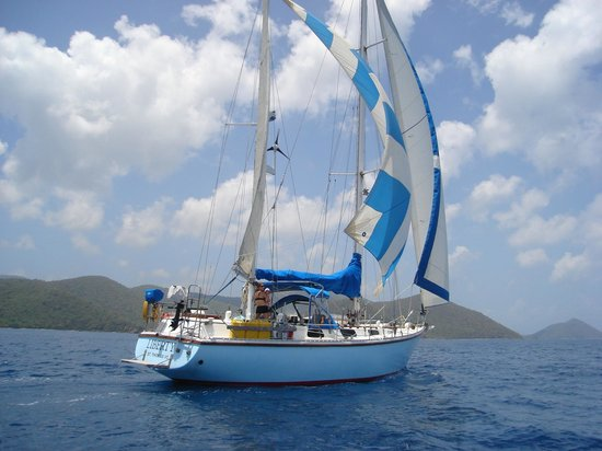 Sail With Liberty Private Day Sails: Liberty sailing in the Drake Passage between St. John and Tortola