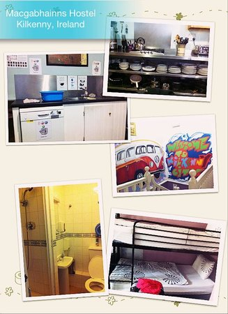 MacGabhainns Backpacker Hostel: The kitchen, bedroom and bathroom