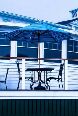 Porch at the Newagen Seaside Inn
