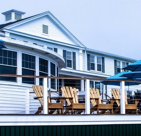 The Newagen Seaside Inn from the back lawn