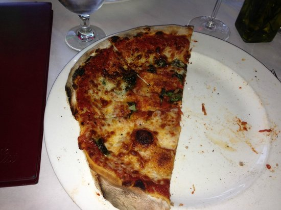 Giuseppe's Cucina Italiana : Pizza with burned crust cut off